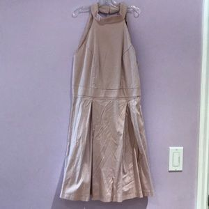 HIGH NECK FITTING LIGHT PINK DRESS GOOD AS NEW
